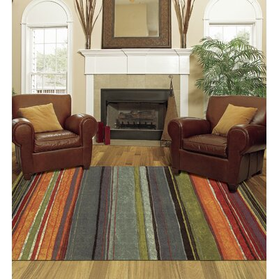 Bartlett Las Cazuela Blue/Orange Area Rug Rug Size: Square 10