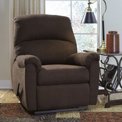 Wellston Manual Wall Hugger Recliner Upholstery: Cocoa