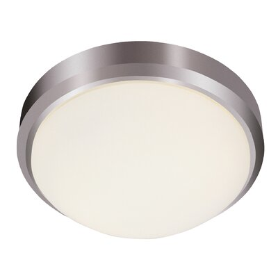 Samos 1-Light Flush Mount Finish: Brushed Nickel, Size: 5 H x 15 W x 15 D