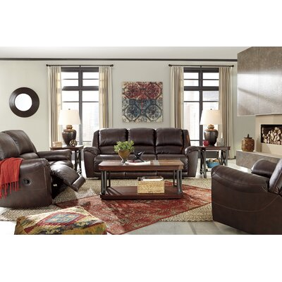 Strathmore Reclining Sofa Type: Manual, Finish: Walnut