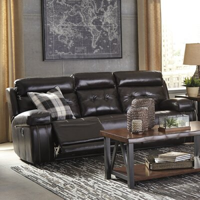 Sagamore Power Adjustable Headrest Reclining Sofa Upholstery: Walnut