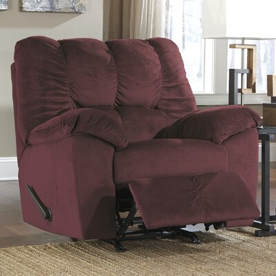 Shepley Manual Rocker Recliner Upholstery: Burgundy