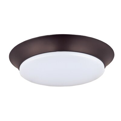 Hyder 1-Light Flush Mount Finish: Satin Nickel
