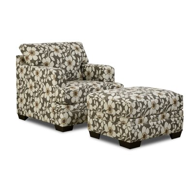 Simmons Upholstery Stinson Ottoman Color: Mulberry