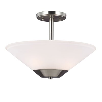 Isidore 2-Light Semi Flush Mount Finish: Brushed Nickel
