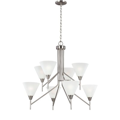 Isidore 8-Light Shaded Chandelier Finish: Burnt Sienna
