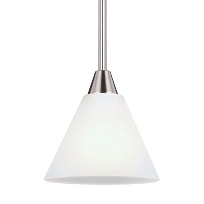Isidore 1-Light Mini Pendant Finish: Brushed Nickel