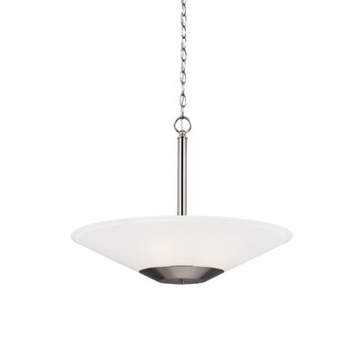 Isidore 3-Light Mini Pendant Finish: Brushed Nickel