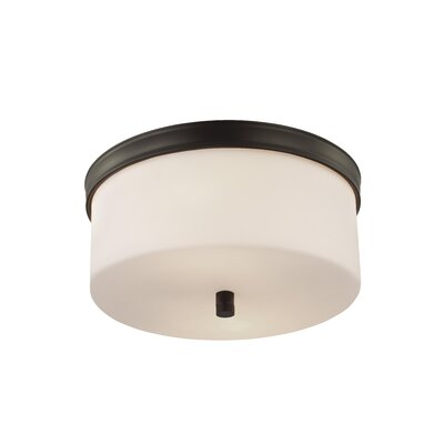 Holbrook 2-Light Flush Mount Finish: Oil Rubbed Bronze