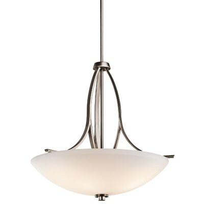 Surrey 3-Light Inverted Pendant Finish: Brushed Pewter