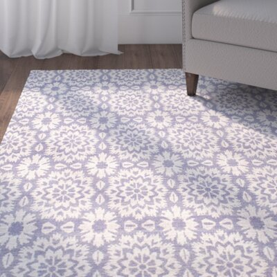 Bromley Purple Area Rug Rug Size: Rectangle 76 x 96