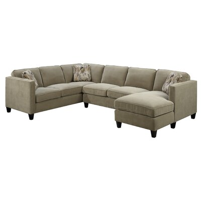 Conde Sectional Upholstery : Granite