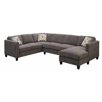 Conde Sectional Upholstery : Charcoal