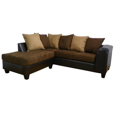 Overbey Sectional Color: San Marino Chocolate / Bulldozer Java / Mocha