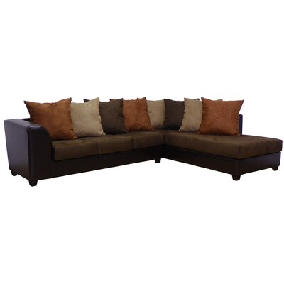 Burwood Sectional Upholstery: Chocolate/Java/Cinnamon/Mocha