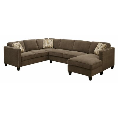 Conde Sectional Upholstery : Chocolate