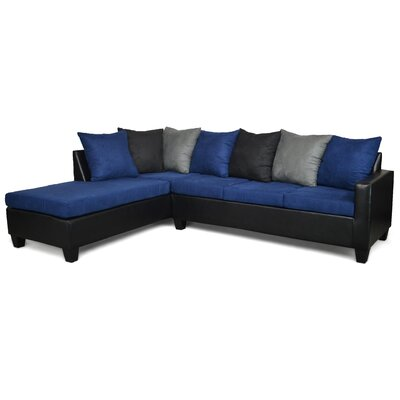 Rossa Sectional Upholstery: Blue/Black