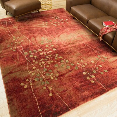 Alderbrook Flame Area Rug Rug Size: Rectangle 53 x 75