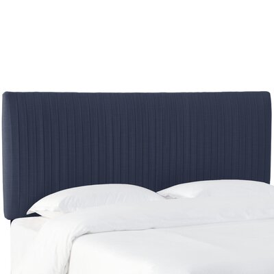 Sanford Pleated Upholstered Panel Headboard Size: King, Upholstery: Navy