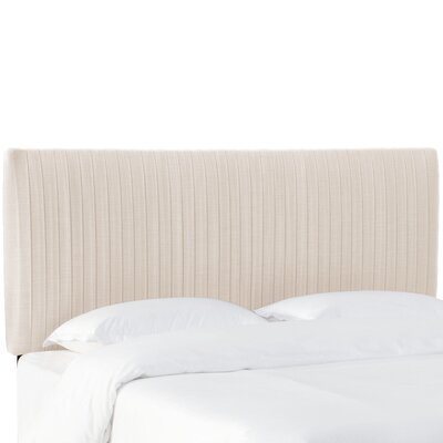 Sanford Pleated Upholstered Panel Headboard Size: Twin, Upholstery: Talc