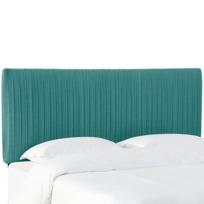 Sanford Pleated Upholstered Panel Headboard Size: Full, Upholstery: Laguna