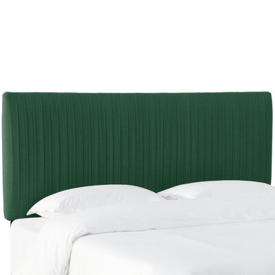 Sanford Pleated Upholstered Panel Headboard Size: Queen, Upholstery: Conifer Green