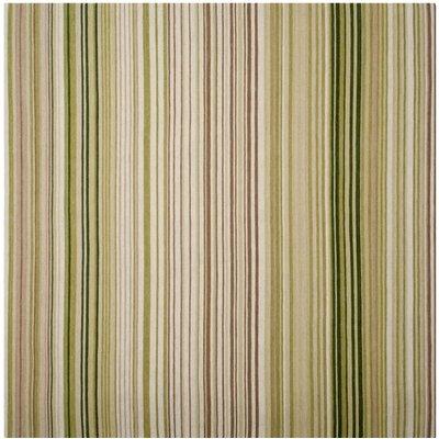 Barnesville Hand-Tufted Green/Beige Area Rug