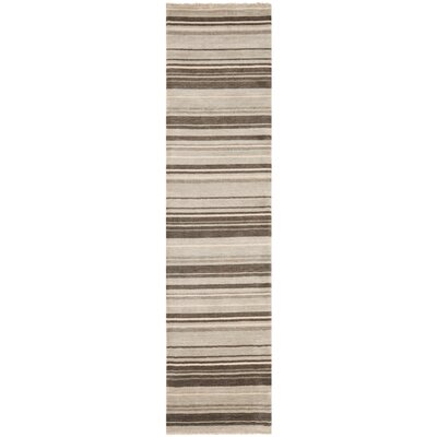 Wesley Hand-Knotted Silver Area Rug Rug Size: Runner 2 x 8