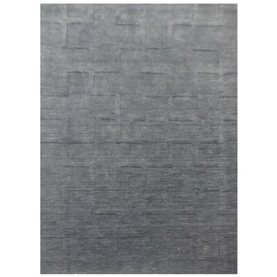 Beaconcrest Hand-Loomed Gray Area Rug Rug Size: 5 x 8