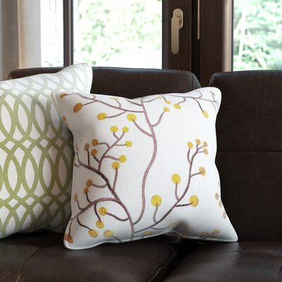 Alchemist Embroidered Linen Throw Pillow
