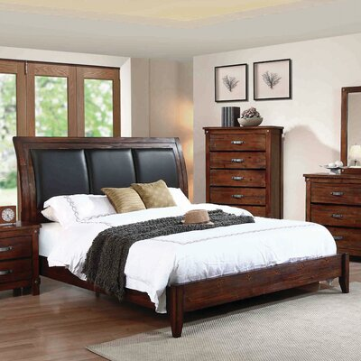 Whitney Upholstered Panel Bed Size: King