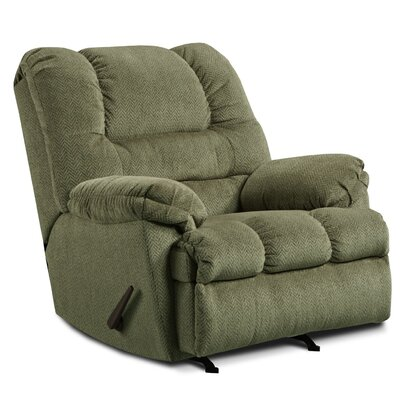 Simmons Upholstery Merion Mocha Rocker Recliner Type: Power, Upholstery: Pewter