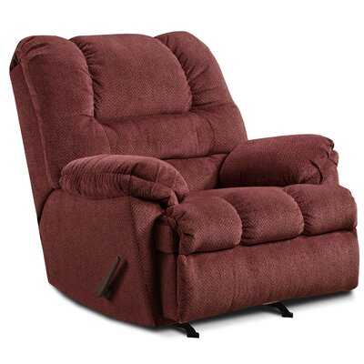 Simmons Upholstery Merion Mocha Rocker Recliner Type: Manual, Upholstery: Wine