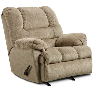 Merion Rocker Recliner Reclining Type: Manual, Upholstery: Tan