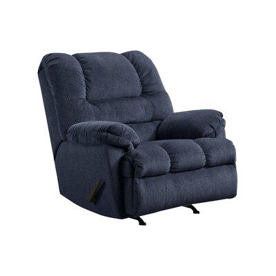 Simmons Upholstery Merion Mocha Rocker Recliner Type: Manual, Upholstery: Blue