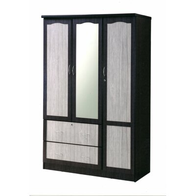 Brunswickv Armoire Finish: Chocolate/Gray
