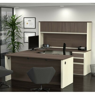 U Shape Executive Desk Hutch Product Photo