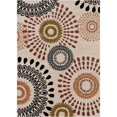 Landau Ivory Abstract Rug Rug Size: 7 x 10