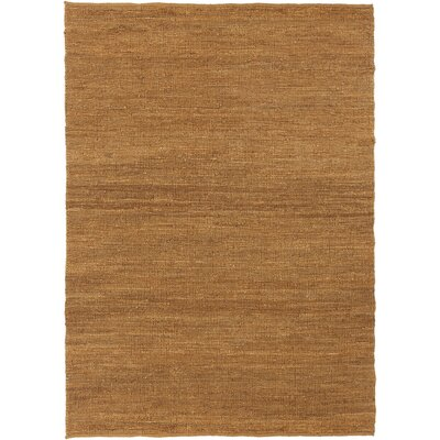 Clyde Gold Natural Area Rug Rug Size: 5 x 7
