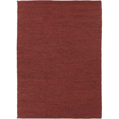 Clyde Red Natural Area Rug Rug Size: 7 x 10
