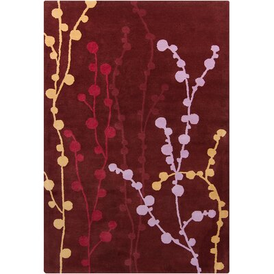 Willow Hand Tufted Wool Burgundy Area Rug