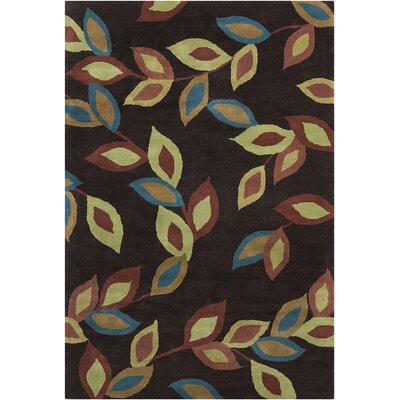 Willow Hand Tufted Wool Dark Brown/Green Area Rug