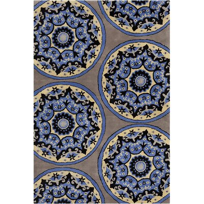 Willow Hand Tufted Wool Blue/Yellow Area Rug