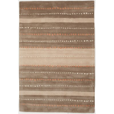 Willow Hand Tufted Wool Brown/Tan Area Rug Rug Size: 5 x 76