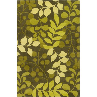 Willow Hand Tufted Wool Ovile Green/Lime Green Area Rug Rug Size: 8 x 10