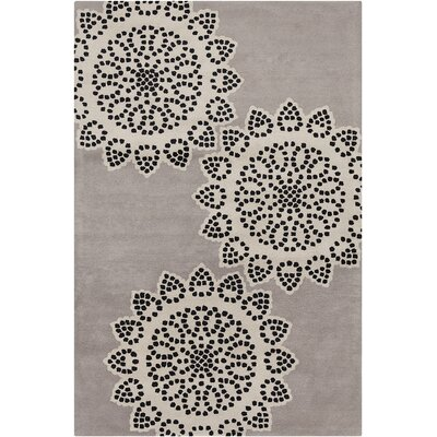 Willow Hand Tufted Wool Taupe/Black Area Rug Rug Size: 5 x 76