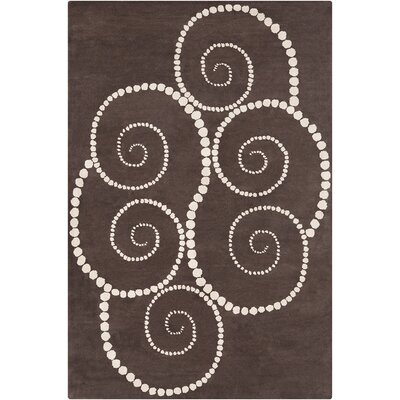 Willow Hand Tufted Wool Brown/Cream Area Rug Rug Size: 5 x 76