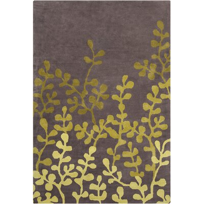 Willow Hand Tufted Wool Brown/Green Area Rug Rug Size: 8 x 10