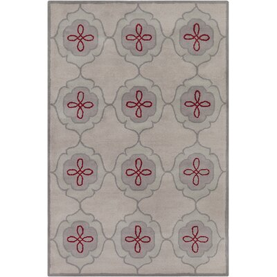 Willow Hand Tufted Wool Beige/Gray Area Rug Rug Size: 5 x 76