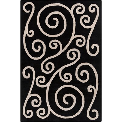 Willow Hand Tufted Wool Black/Beige Area Rug Rug Size: 8 x 10